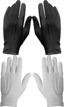 12 Pack Cotton Military Uniform Dress Parade Gloves with Snaps, White or... - $728,23 MXN