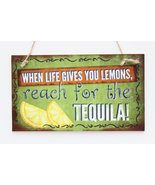 Meijiafei When Life Gives You Lemons reach for the tequila! Wooden Sign ... - $12.86