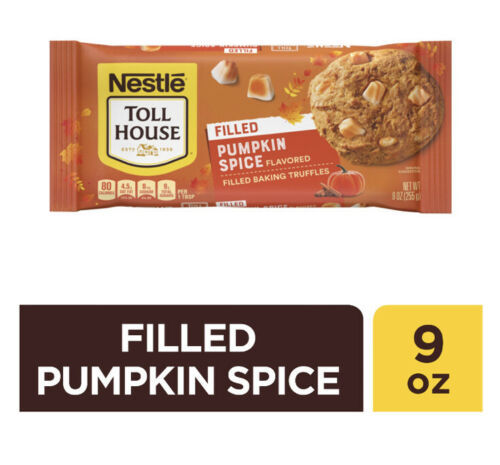 NEW NESTLE TOLL HOUSE PUMPKIN SPICE FLAVORED FILLED BAKING TRUFFLES 9 OZ BAG - $8.90