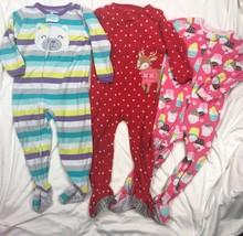 Carters Fleece Blanket Sleeper Pajamas + Romper Playwear Lot Girls 3T Ch... - $27.56