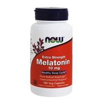 NOW Foods Melatonin Extra Strength 10 mg., 100 Vegetarian Capsules - $14.19