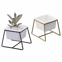 Planter Pots Indoor, Flowerplus 2 Pack 3.5 Inch Decorative White Ceramic... - $15.02