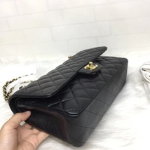 BRAND NEW AUTH Chanel Medium Black Caviar Classic Double Flap Bag GHW image 5