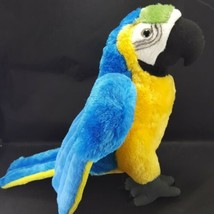 "Wild Republic Macaw Parrot Bird Blue Yellow Plush 17"" Long Stuffed Anima... - $21.77"