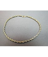 14k Yellow Gold Bracelet Rope Chain 5.48g Michael Anthony MA 2.5mm Wide ... - $296.99