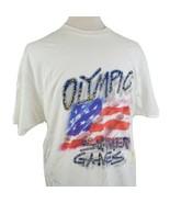 Vintage 1996 Atlanta Olympic Summer Games T-Shirt XL White Crew S/S USA ... - $17.99