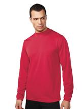 Tri-Mountain Heron 626 Knit Mock Neck Shirt - Red - $19.60+