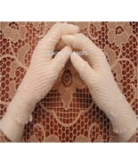 Half Finger Cotton Crochet Gloves - Cream Color - $14.00