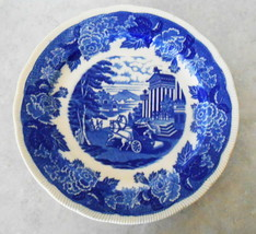 "Vtge M&B Blue White Rake Edging Roman Chariot Decorative Plate 10"" Made ... - $44.55"