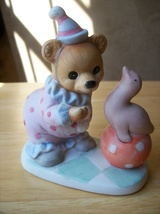 Homco Circus Bear with Seal Figurine #8881 - $16.00