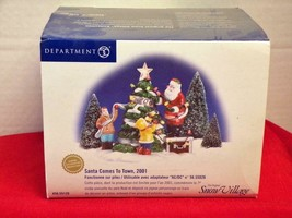 Dept 56 Snow Village Santa Comes to Town Limited - 2001 #55120 - - $15.68