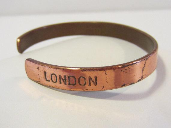 Vintage SABONA LONDON copper cuff bracelet and 13 similar ...