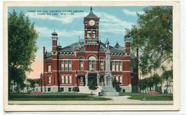 Court House Fond Du Lac Wisconsin 1920s postcard - $6.39