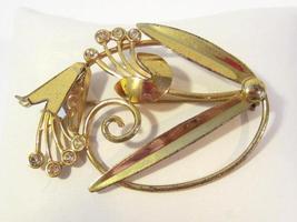 Vintage Art Deco sterling silver rhinestone Flower brooch - $35.00