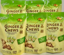 Prince of Peace Ginger Chews Candy with Mango (100% Natural) 4 oz ( Pack... - $24.74