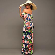 Ruffle Off Shoulder Maxi Dress At Bling Brides Bouquet Online Bridal Store image 9