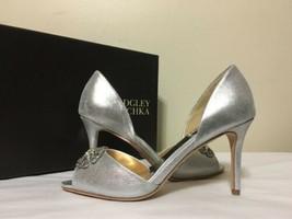 Badgley Mischka Seneca Silver Metallic Women's Evening High Heels Pumps ... - $71.82