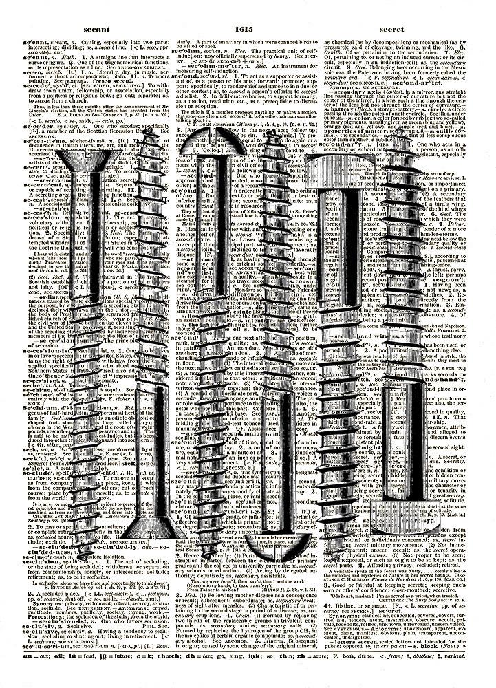 Vintage HARDWARE SCREWS Vintage Dictionary Page Art Print No. 0126