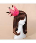 Big Flower Headpiece Feather Yarn Fascinator Brooch Hairpin - $18.87