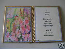 SPECIAL FRIEND BIRTHDAY/CHRISTMAS GIFT HUMMINGBIRD BOOK - $12.00