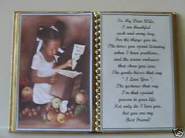 WIFE BIRTHDAY/CHRISTMAS/MOTHERS DAY GIFT/ GIRL W BOOK - $12.00
