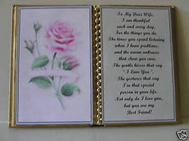 Wife BIRTHDAY/CHRISTMAS/MOTHERS Day GIFT/ Pink Rose - $13.50