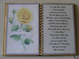 Wife BIRTHDAY/CHRISTMAS/MOTHERS Day GIFT/ Yellow Rose - $13.50