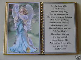 Wife BIRTHDAY/CHRISTMAS/MOTHERS Day GIFT/ANGEL W/ Dove - $13.50