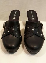 "Women's  American Eagle Mule Clogs Size 9.5 Shoes Black with 3"" Heels NWOB - $17.72"
