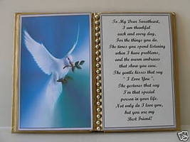 Sweetheart BIRTHDAY/CHRISTMAS/MOTHERS DAY/ White Dove - $13.50