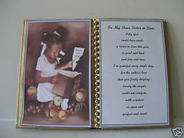 SISTER IN LAW BIRTHDAY GIFT/ CHRISTMAS GIFT/GIRL W BOOK - $12.00