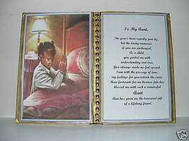 Aunt BIRTHDAY/CHRISTMAS/MOTHERS Day GIFT/ Girl Praying - $12.00