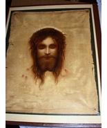 Striking Vintage Lithograph-JESUS CHRIST,Crown of Thorns - $80.75