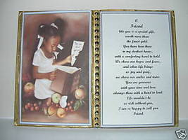 FRIEND BIRTHDAY/CHRISTMAS/MOTHERS DAY GIFT/GIRL W BOOK - $12.00