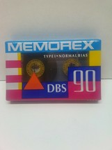 MEMOREX Type 1 DBS 90- Blank audio cassette. Sealed-brand new. - $4.30
