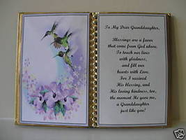 Granddaughter BIRTHDAY/MOTHER'S DAY/CHRISTMAS/TRIPLE Hb - $13.50