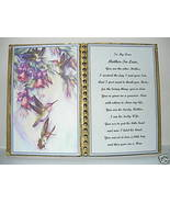 Mother in Law~Birthday Gift~Mothers Day Gift~Christmas Gift~Humming Bird... - $13.50