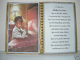 Mother In Law BIRTHDAY/MOTHER'S DAY/CHRISTMAS/GIRL Pray - $13.50
