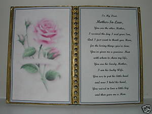 Primary image for MOTHER IN LAW BIRTHDAY/MOTHER'S DAY/CHRISTMAS/PINK ROSE