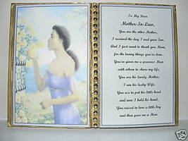 Mother In Law BIRTHDAY/MOTHER'S DAY/CHRISTMAS/WOMAN - $13.50