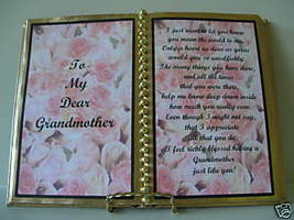 Grandmother Birthday /CHRISTMAS GIFT/ Pink Rose Buds - $13.50