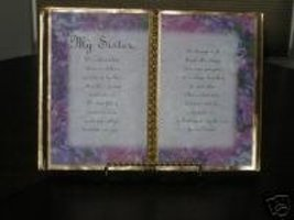 Sister Birthday / Mother's Day / Purple Pansy Border - $13.50