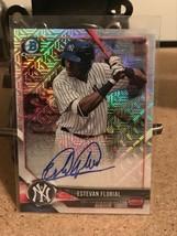 2018 Bowman Chrome Mega Box Refractor Estevan Floriel Yankees Rookie RC - $123.75