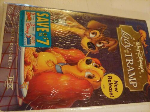 Lady and the Tramp (VHS, 1998, Clam Shell) New Sealed Fully Restored image 2