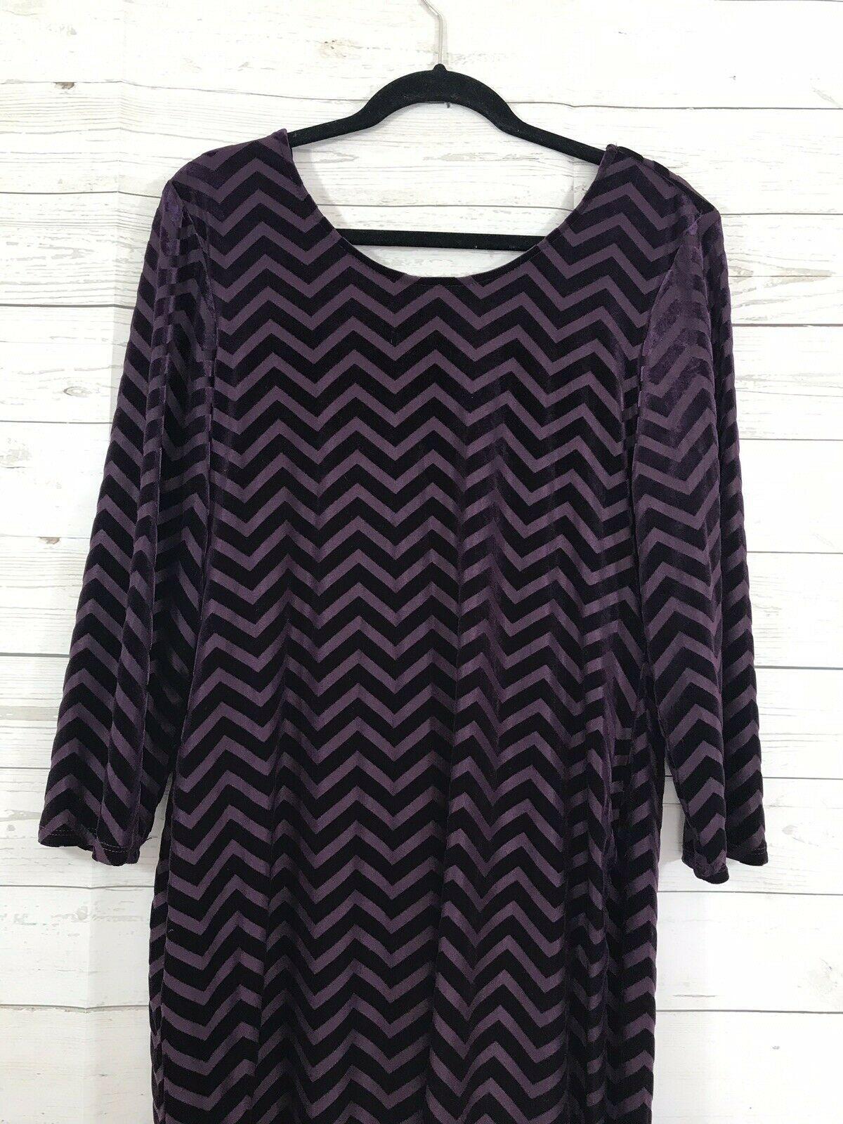 forever 21+ plus 2X dress long half sleeve chevron back drop purple