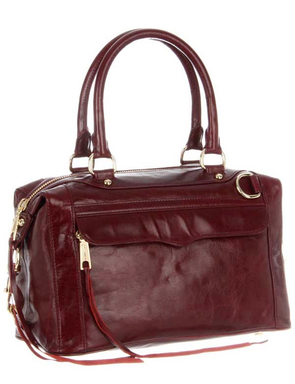 Primary image for NWT $495 Rebecca Minkoff Morning After Bag MAB mini MAM Leather - Burgundy HOLD