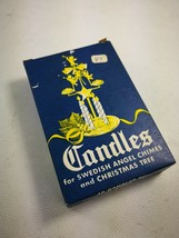 Vintage 12 Candles For Swedish Angel Chimes Christmas Tree Old Stock Mad... - $15.99