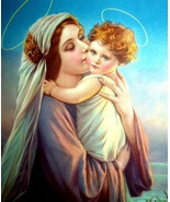 MOTHER DEAR- Lovely Mother Mary and Baby Christ Child Lithog - $22.00