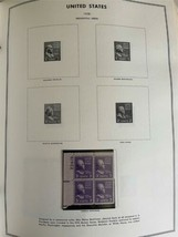 MNH 1938-1984 US Plate Block Collection Stamp Album Harris United States USA image 2