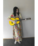 Hippie Casual Dress Boho Floral Print S Long Maxi Summer Cotton - $38.99